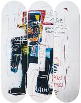 Jean-Michel Basquiat 'Irony of a Negro Policeman' Skateboard Triptych