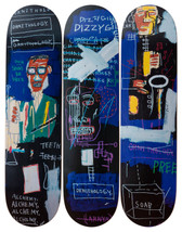Jean-Michel Basquiat 'Horn Players' Skateboard Triptych