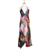 One-of-a-Kind Patchwork Silk Sari Patchwork Maxi Dress