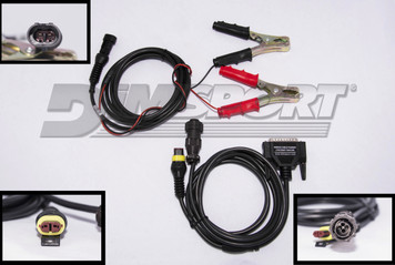 F32GN040  FENDT/MF 4 pin diagnostic connector with external power feeding (CAN comm.)