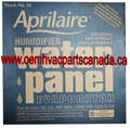 OEM #10 Aprilaire Humidifier Water Panel Pad 500 550 Pack of 2