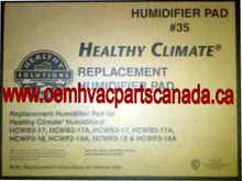 Healthy Climate Humidifier X2661 Water Panel # 35 case. 2
