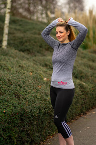Against Breast Cancer Ladies Long Sleeve Gym Top