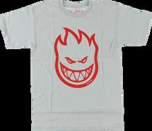 Spitfire - Bighead Ss S - Silver / Red - Skateboard T-Shirt