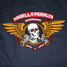 Powell Peralta - / Peralta Winged Ripper Ss S - Navy - Skateboard T-Shirt
