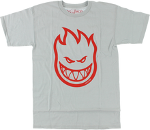 Spitfire - Bighead Ss M - Silver / Red - Skateboard T-Shirt
