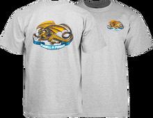 Powell Peralta - / P Oval Dragon Ss M - Heather Grey - Skateboard T-Shirt