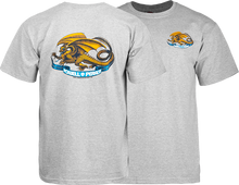 Powell Peralta - / P Oval Dragon Ss L - Heather Grey - Skateboard T-Shirt
