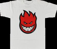 Spitfire - Bighead Fill Ss L - Wht / Red - Skateboard T-Shirt