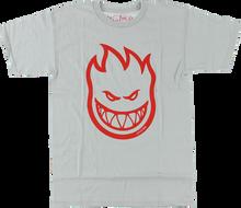 Spitfire - Bighead Ss L - Silver / Red - Skateboard T-Shirt