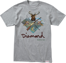 Diamond - Hunters Club Ss S - Heather Grey - Skateboard T-Shirt