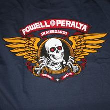 Powell Peralta - / Peralta Winged Ripper Ss M - Navy - Skateboard T-Shirt