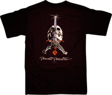Powell Peralta - / Peralta Skull & Sword Ss Xl - Black - Skateboard T-Shirt