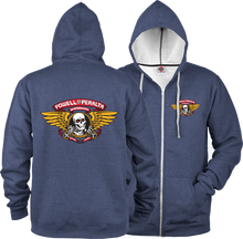 Powell Peralta - / P Winged Ripper Zip Hd / Swt L - Navy Heather