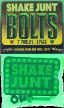 """Shake Junt - Bag - O - Bolts Blk / / Gold / Grn 1"""" Phillips 1set"""