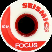 Seismic - Focus 55mm 101a Wht / Red - (Set of 4) Skateboard Wheels