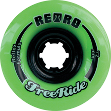 Retro - Freeride 72mm 80a Lime - (Set of 4) Skateboard Wheels
