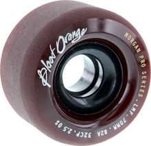 Blood Red Orange - Orange Morgan 70mm 82a Maroon - Skateboard Wheels (Set of Four)