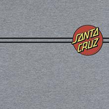 Santa Cruz - Classic Dot Ss S-heather Grey - Tshirt