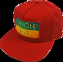 Diamond - Life Flag Hat Adj-red Snapback