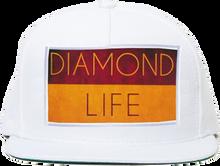Diamond - Life Flag Hat Adj-white Snapback