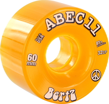 Abec 11 - Bertz 60mm 81a Clr Amber - Skateboard Wheels (Set of Four)