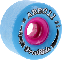 Abec 11 - Freeride Stone Ground 70mm 84a Blue/pink - Skateboard Wheels (Set of Four)