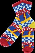 Bro Style - Style Lightening Bolt Crew Socks - red 1 Pair