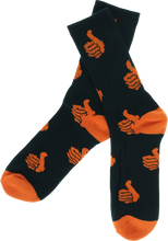 Bro Style - Style Spooky Thumbs Crew Socks - blk W/org 1pr