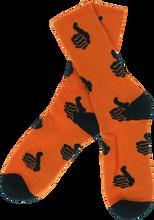 Bro Style - Style Spooky Thumbs Crew Socks - org W/blk 1pr
