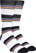 Kurb - Half Cushion Crew Variegated Stripe Wht