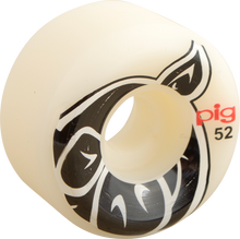 Pig - Head Conical 52mm White - Skateboard Wheels (Set of Four)