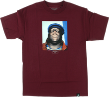Primitive - Biggie Notorious Ss M - burgundy - Skateboard Tshirt