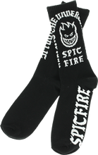 Spitfire - Steady Rockin Crew Socks Blk/wht 1 Pair