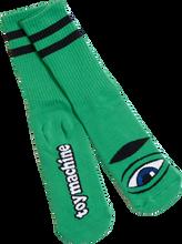 Toy Machine - Sect Eye Iii Crew Socks - kelly Green 1 Pair