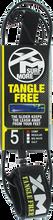 Xm - Tangle Free Ds Complite Leash 5' Black - Surfboard Leash