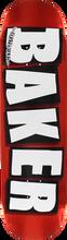 Baker - Brand Logo Foil Deck - 8.25 Red - Skateboard Deck