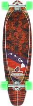 Layback Longboards - Hawaiian Aloha Complete-9.75x38 (Complete Skateboard)