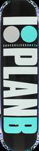 Plan B - B Og Deck-8.25 Blk/teal/wht/grey (Skateboard Deck)