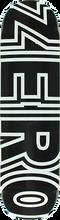 Zero - Bold Deck-8.0 Black/wht (Skateboard Deck)
