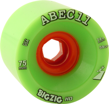 Abec 11 - Bigzig Hd 75mm 74a Lime/org (Wheels - Set Of Four)