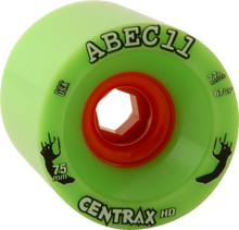 Abec 11 - Centrax Hd 75mm 77a Lime/org (Wheels - Set Of Four)