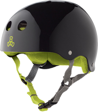 Triple Eight - Helmet Blk Gloss/grn S