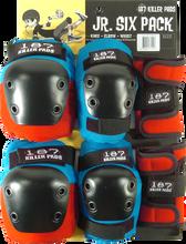 187 - 6-pack Junior Pad Set Red/blu/blk