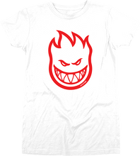 Spitfire - Bighead Girls Ss L-wht/red