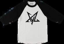 Xyz - Pentagram Raglan 3/4 Slv L-wht/blk