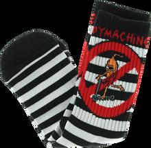 Toy Machine - No Scooter Crew Socks-blk/wht Stripe 1 Pair