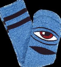 Toy Machine - Sect Eye Heather Crew Socks-blue 1pr