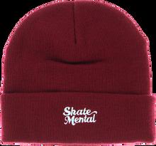 Skate Mental - Mental Script Logo Beanie Burgundy