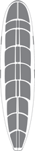 """Surfco - Hotgrip Wax Mat 9'6"""" Longboard"""